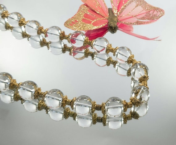 Pools Of Light rock crystal necklace, 1930s pool … - image 2