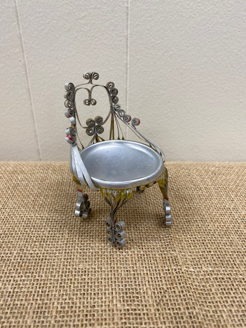 Scroll Beer Can Art Ornate Aluminum Can Chair Miller High Life