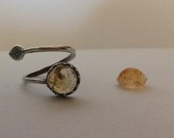 Ring with Citrine Quartz
