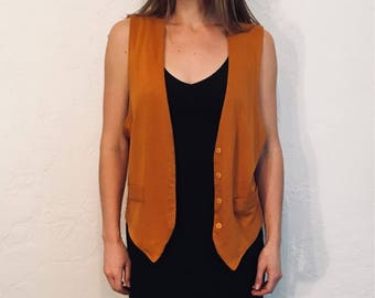 1980s Mustard Vest