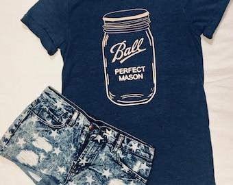 65e76855d Ball Mason Jar | Unisex T-Shirt | FARM-STYLE