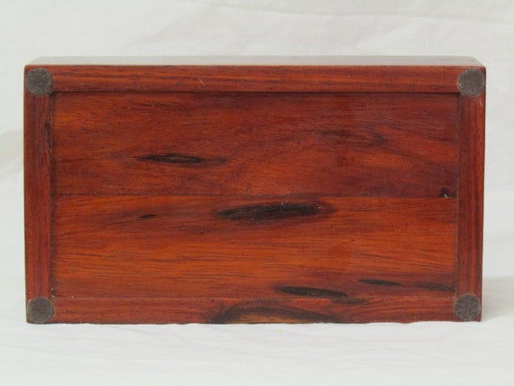 Triangular JewelryKeepsakeStash Box handcrafted from exotic Purpleheart and Birch...2 available