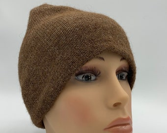 100% Alpaca Beanie Hat