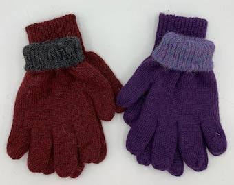 100% Alpaca Reversible Gloves