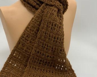Hand Made Knit Alpaca Scarf