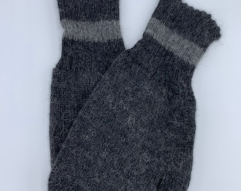 100% Alpaca Mittens with Polar Fleece Lining