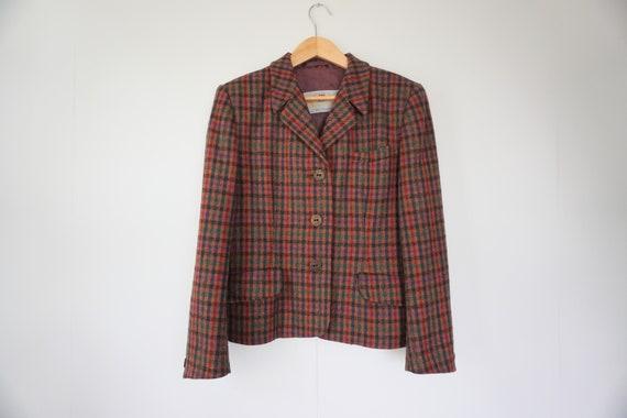 Vintage Aquascutum Boxy Houndstooth Tweed Jacket