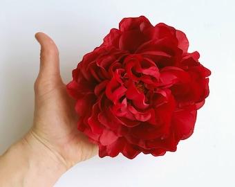 Red Silk Flowers Etsy