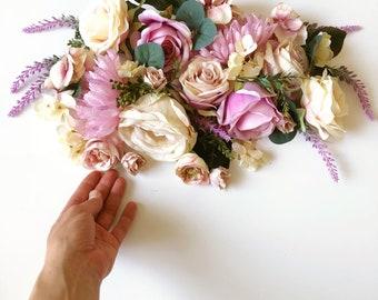 bfd024c27da77 50 Stück Creme und Lavanda Blume Blumenstrauß