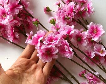 Fake Sakura Faux Sakura Silk Sakura Sakura Bush Sakura Bouquet 5 pcs 15.74 3 Colors Sakura Flower Bouquet Artificial Sakura