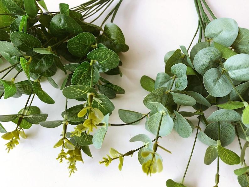 Artificial eucalyptus 16 stems Small filler Bouquet filler image 0