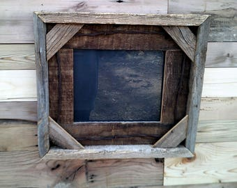 2pcs 8 x 10  Rustic Barn Wood Picture Frame Tabletop Wall Hanging Photo Frames