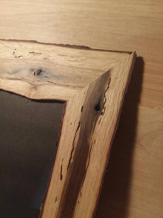 Scrub Oak Picture Frames, 6X8 Frame, Handmade Oak Frames, Rustic Log ...