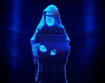 """Star Wars Emperor Palpatine """"Order 66"""" Hologram LED Edge Lit Acrylic Light Multi Color with Remote - Star Wars Gift"""