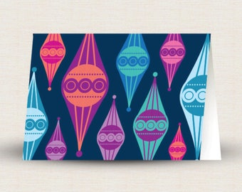 Printable Jeweltone Ornament Card
