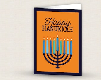 Printable Hanukkah Menorah Card
