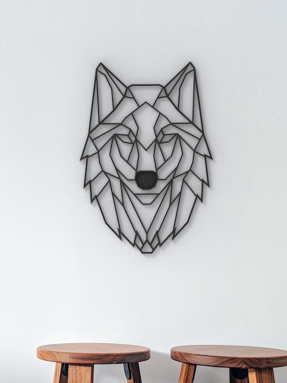 Animal Wall Art Bohemian Decor Art Presents for Dad Zen Home Decor Gift For Him Unique Birthday Gift Nursery Art Wolf Print