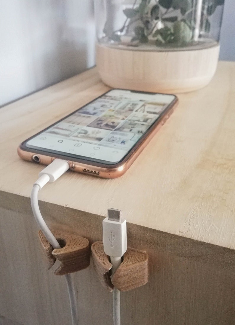 Cable Holder Pack of 3  Wire Organizer  Charger Organizer image 0