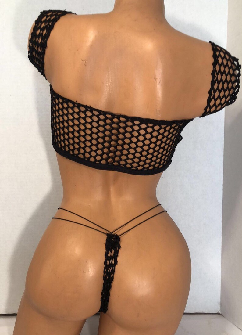 f305bbe2696 Exotic Dancewear-Beautiful Black Big hole Fishnet Tube Style