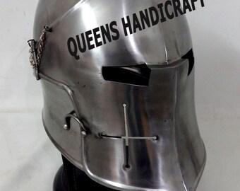 MEDIEVAL Barbuta Helmet Knights Templar Crusader Armour