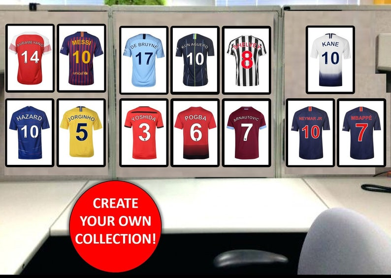 newest collection a8ed3 b5d32 Football Shirt Print Personalised Barcelona Real Madrid Manchester United  City Chelsea Brazil Liverpool Tottenham Juventus USA Milan Paris