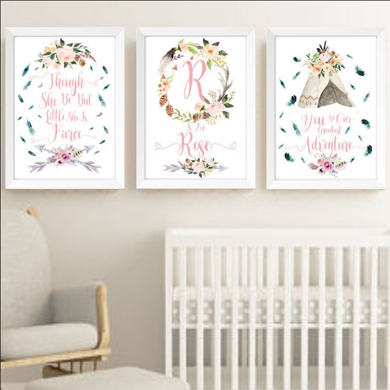 3 Princess Swan Personalised Nursery Name Prints Wall Art Pictures FAUX Glitter