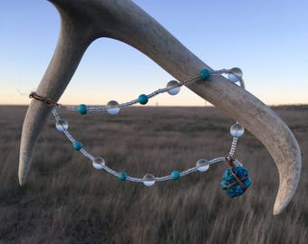 Turquoise Gem Therapy NECKLACE - Boho