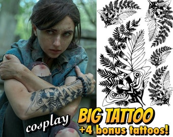 Ellie temporary tattoo + 4 BONUS TATTOOS