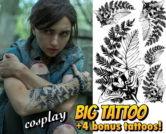 Ellie Temporary Tattoo 4 Bonus Tattoos Etsy