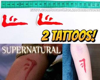 Mark of Cain temporary tattoos, set of 2