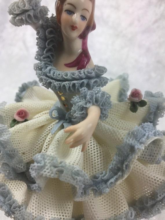 Porzellan Figur Ballerina Ballett, Porzellan Manufaktur Wiefel und von der Wehd