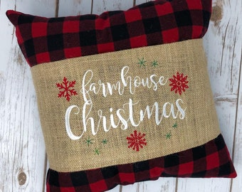 Farmhouse Christmas with Snowflakes Embroidery Design- Sizes Available 6x10 5x7 4x4 INSTANT DIGITAL DOWNLOAD