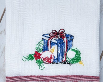 Christmas Presents Sketched Embroidery Design- Available Sizes 6x10 5x7 4x4 INSTANT DIGITAL DOWNLOAD
