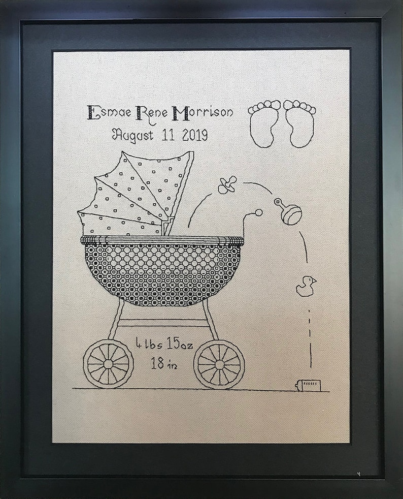 Baby Blackwork Pattern  14 Count image 0