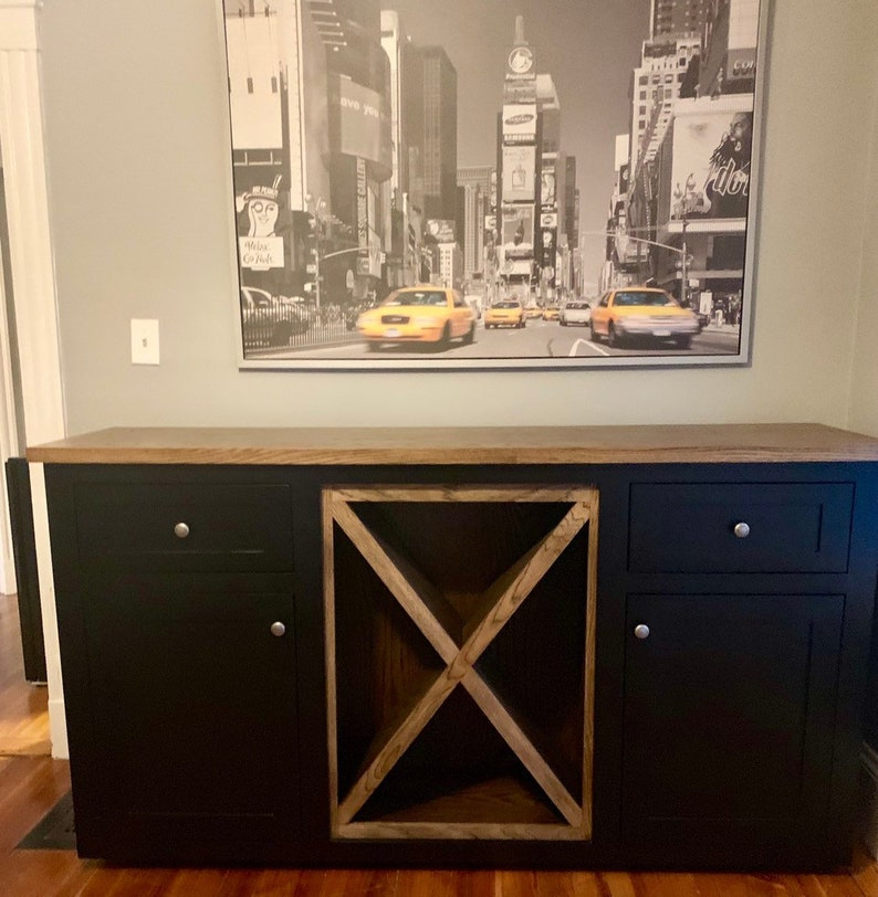 Handmade Bar Cabinet Sideboard With Removable Wine Rack Etsy
