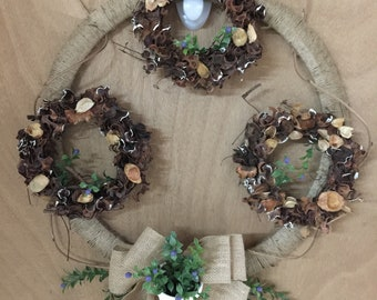 Triple Wreath 10% of sale price is donated to St Jude Childrens Hospital