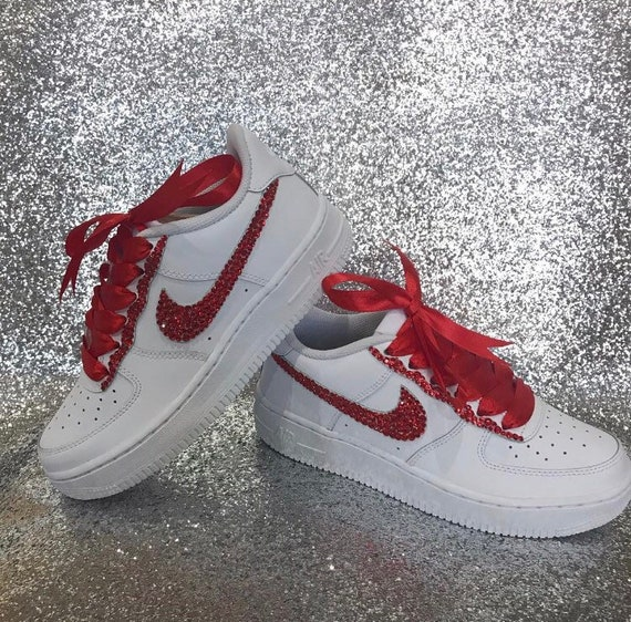 Sparkling Bling White Nike Air Force 1 Trainers