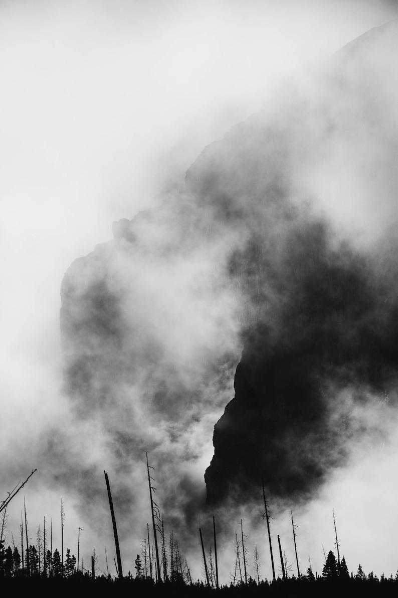 Black and white photography banff national park canada etsy
