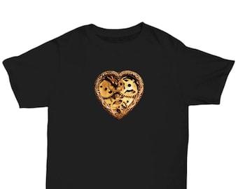 Gear Heart Steampunk T-Shirt