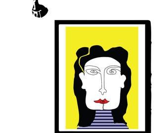 Woman graphic design print II