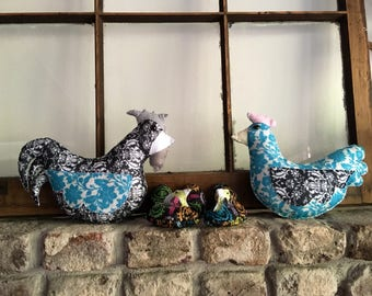 Spring Felt Chicken Family