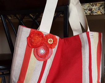 Red Placemat Tote Bag