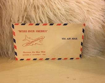 Wings Over America Vintage Envelope