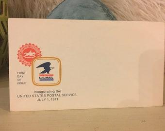 Blank Vintage Postcard With Vintage Envelope