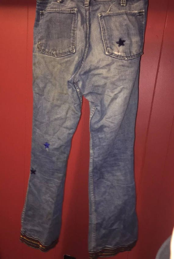 Vintage 1960's Red Snap Jeans - image 5