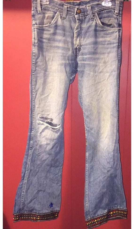 Vintage 1960's Red Snap Jeans - image 1