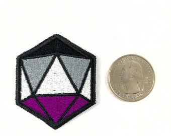 Asexual pride d20 dice patch, version 2