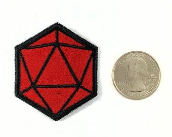 d20 dice patch - solid colors