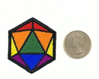 LGBTQIA+ pride d20 dice patch