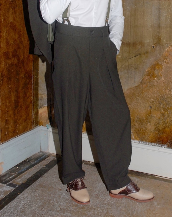 Retro Clothing for Men | Vintage Men's Fashion 1940s Zoot Trousers $125.00 AT vintagedancer.com